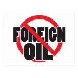 Ningún aceite extranjero postal