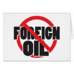 Ningún aceite extranjero tarjetón