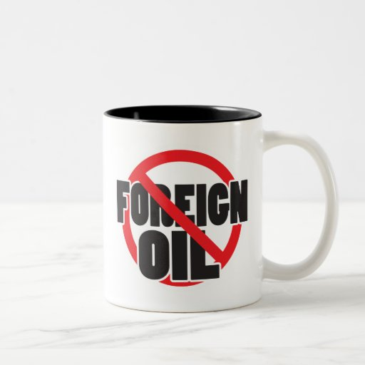 Ningún aceite extranjero tazas de café