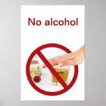 Ningún alcohol poster