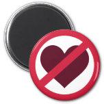 Ningún amor del corazón imán de frigorífico