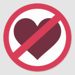Ningún amor del corazón pegatina redonda