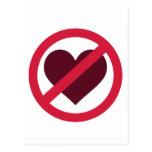 Ningún amor del corazón postal