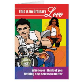 Ningún amor ordinario tarjeta de felicitación