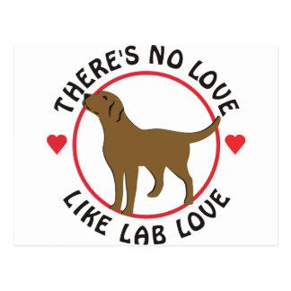 Ningún amor tiene gusto del Amor-Chocolate del Tarjetas Postales