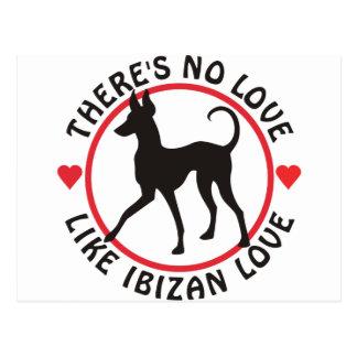 Ningún amor tiene gusto del amor de Ibizan Tarjeta Postal