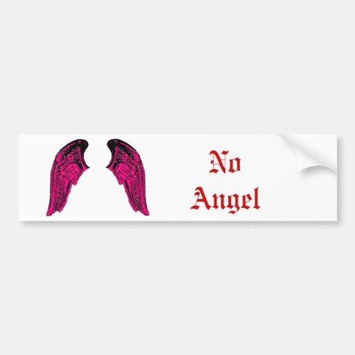 ningún ángel etiqueta de parachoque