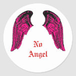 ningún ángel etiquetas redondas