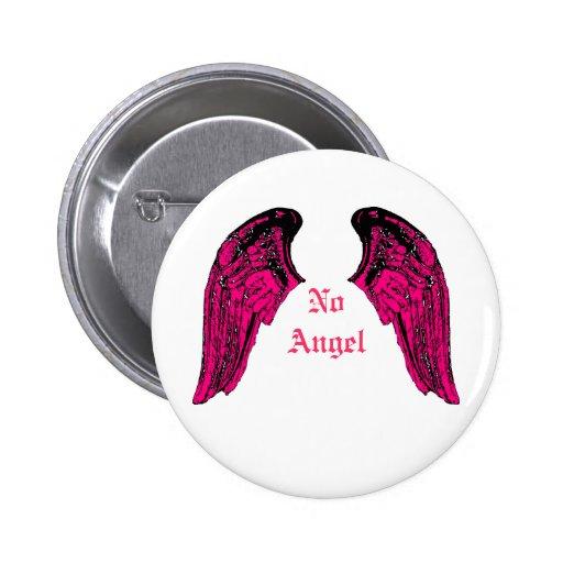 ningún ángel pin redondo 5 cm
