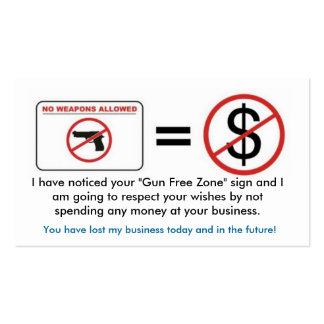 Ningún arma, ningún dinero tarjetas de visita