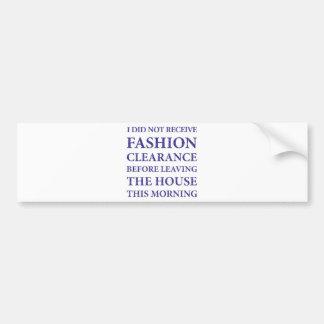 Ningún azul de la liquidación de la moda etiqueta de parachoque