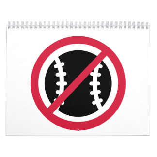 Ningún béisbol calendarios