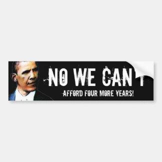 Ningún biselamos permitimos etiqueta anti de Obama Etiqueta De Parachoque