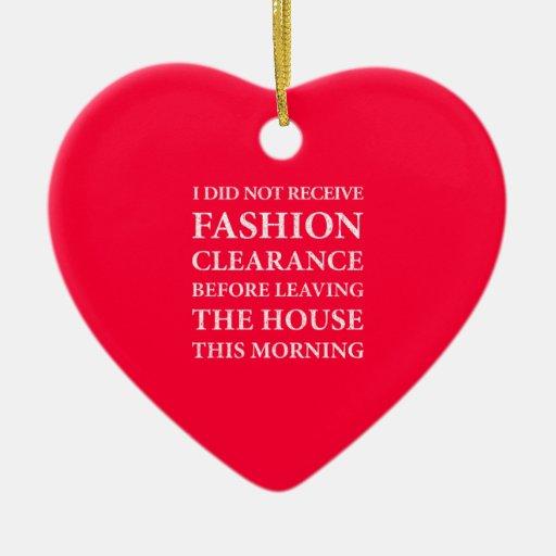 Ningún blanco de la liquidación de la moda adorno de cerámica en forma de corazón