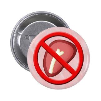 Ningún botón 01 de la carne pin redondo de 2 pulgadas