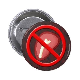 Ningún botón 02 de la carne pin redondo de 2 pulgadas