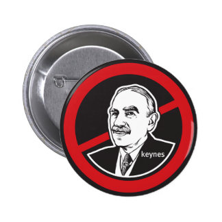 Ningún botón de Keynes Pin Redondo De 2 Pulgadas