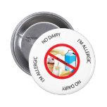 Ningún botón de la alarma de la alergia de la lech pins