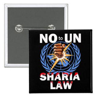 Ningún botón de la ley de la O.N.U Sharia Pin Cuadrado