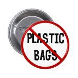 Ningún botón de las bolsas de plástico pin