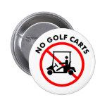Ningún botón de los carros de golf pin
