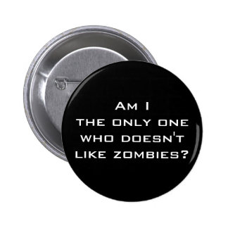Ningún botón de los zombis pin