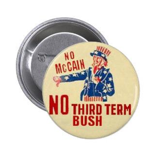 Ningún botón de McCain Pin