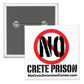 Ningún botón del cuadrado de la prisión de Creta Pins