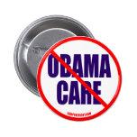 Ningún botón del cuidado de Obama Pin