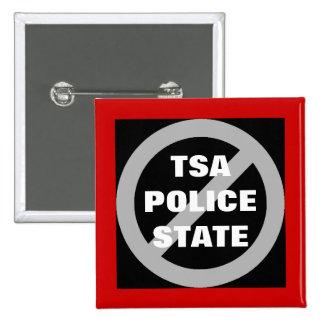 Ningún botón del estado policial de TSA Pin Cuadrado