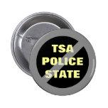 Ningún botón del estado policial de TSA Pins