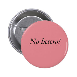 Ningún botón del hetero pin redondo de 2 pulgadas