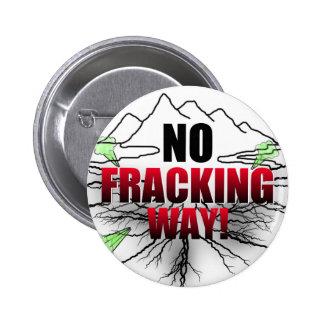 ningún botón fracking pin redondo de 2 pulgadas