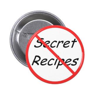 Ningún botón secreto de las recetas