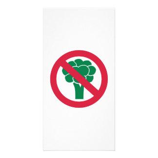 Ningún bróculi tarjeta fotografica