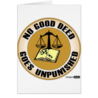 ningún buen hecho va impune tarjeta de felicitación