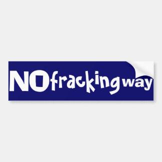 Ningún bumpersticker fracking de la manera pegatina para auto