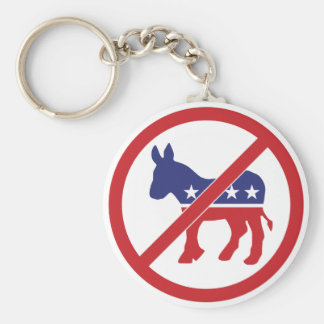 Ningún burro de Demócrata de la política Llavero Personalizado