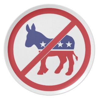 Ningún burro de Demócrata de la política Plato Para Fiesta
