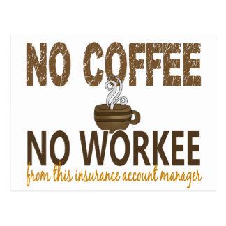 Ningún café ningún administrador de cuentas del postal