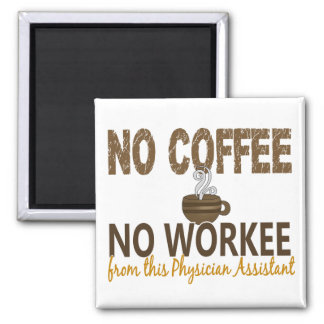 Ningún café ningún ayudante del médico de Workee Iman Para Frigorífico