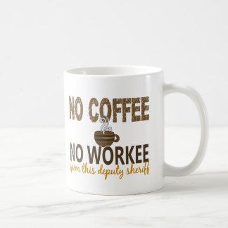 Ningún café ningún ayudante del sheriff de Workee Taza Básica Blanca