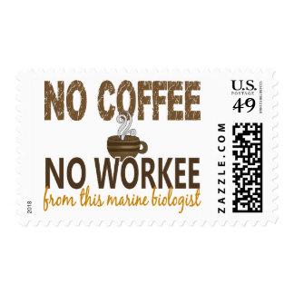 Ningún café ningún biólogo del infante de marina d