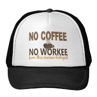 Ningún café ningún biólogo del infante de marina d gorras