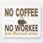 Ningún café ningún cartero de Workee Tapetes De Raton