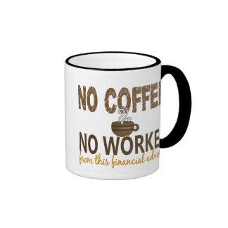 Ningún café ningún consejero financiero de Workee Tazas De Café
