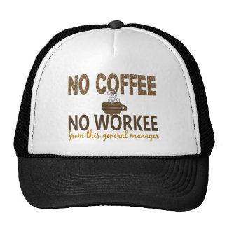 Ningún café ningún director general Workee Gorros Bordados