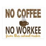 Ningún café ningún ebanista de Workee Tarjeta Postal