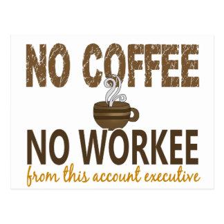 Ningún café ningún ejecutivo de cuenta de Workee Postal