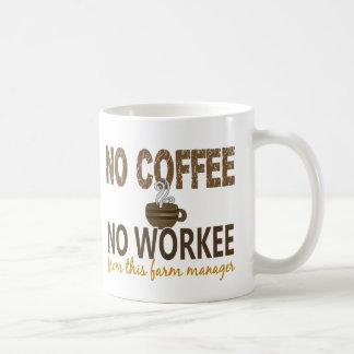 Ningún café ningún encargado de la granja de Worke Taza De Café